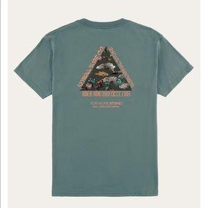 Men's O'Neill super tripper T-shirt in teal